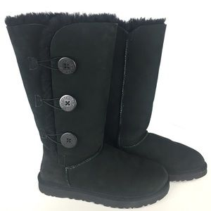 UGG Bailey Button Triplet Sheepskin Suede Boot